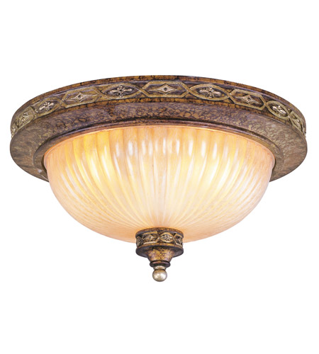 Livex 8542-64 Seville 2 Light 13 inch Palacial Bronze with Gilded Accents Ceiling Mount Ceiling Light photo