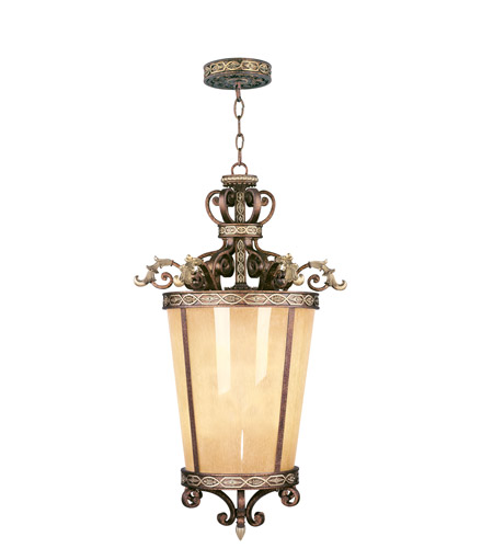 Livex 8549-64 Seville 6 Light 24 inch Palacial Bronze with Gilded Accents Foyer Pendant Ceiling Light photo