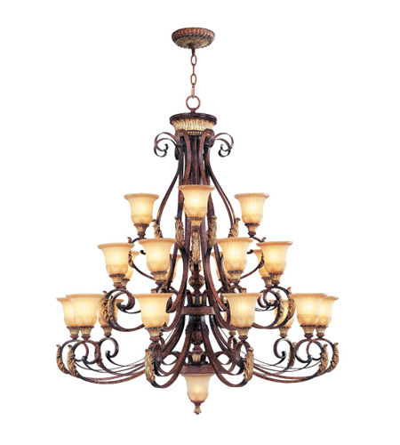 Livex 8569-63 Villa Verona 23 Light 50 inch Verona Bronze with Aged Gold Leaf Accents Chandelier Ceiling Light photo