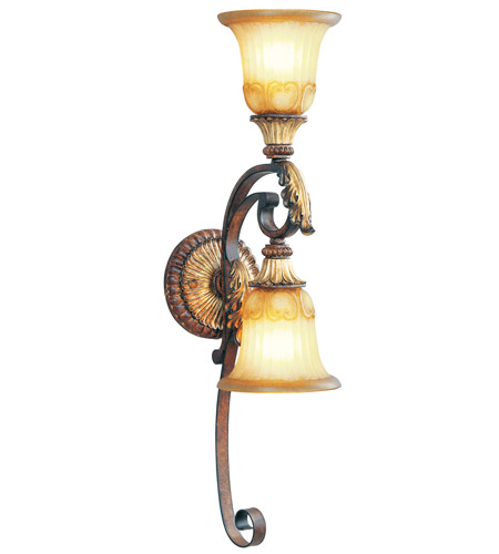 Livex 8572-63 Villa Verona 2 Light 6 inch Verona Bronze with Aged Gold Leaf Accents Wall Sconce Wall Light photo