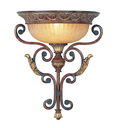 Livex 8580-63 Villa Verona 1 Light 14 inch Verona Bronze with Aged Gold Leaf Accents Wall Sconce Wall Light photo