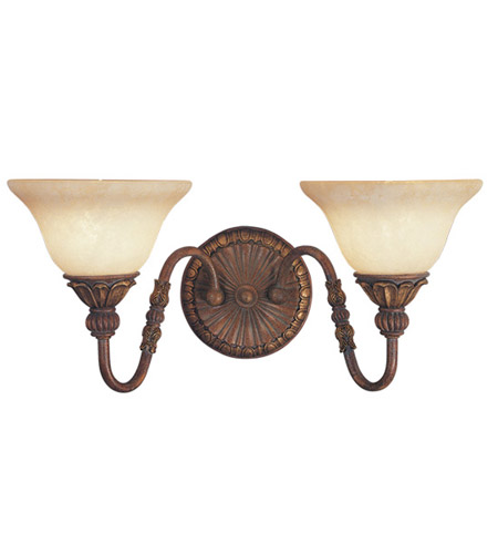 Livex Lighting Sovereign 2 Light Bath Light in Crackled Greek Bronze with Aged Gold Accents 8612-30 photo