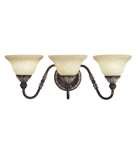 Livex Lighting Sovereign 3 Light Bath Light in Hand Rubbed Bronze with Antique Silver Accents 8613-40 photo