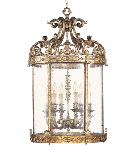 Livex Lighting Chateau 6 Light Foyer Pendant in Vintage Gold Leaf 8646-65 photo