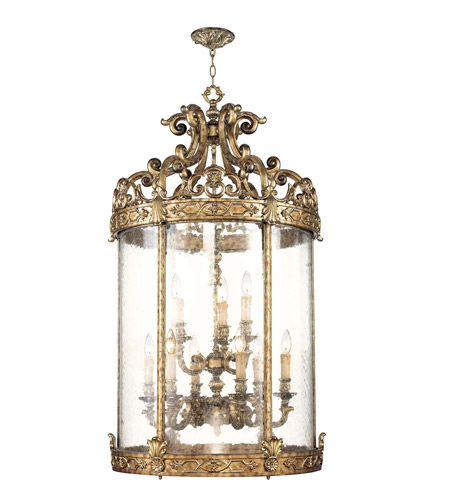 Livex 8647-65 Chateau 9 Light 26 inch Vintage Gold Leaf Foyer Pendant Ceiling Light photo