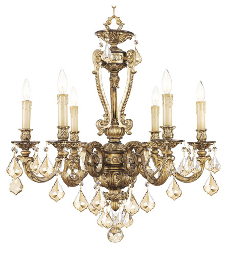 Livex Lighting Chateau 6 Light Chandelier in Vintage Gold Leaf 8656-65 photo