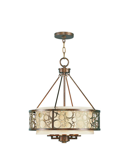 Livex 8675-64 Avalon 5 Light 18 inch Palacial Bronze with Gilded Accents Chandelier Ceiling Light photo