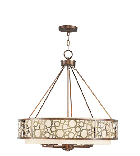 Livex 8678-64 Avalon 8 Light 26 inch Palacial Bronze with Gilded Accents Chandelier Ceiling Light photo