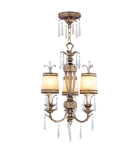 Livex Lighting La Bella 3 Light Pendant/Ceiling Mount in Vintage Gold Leaf 8803-65 photo