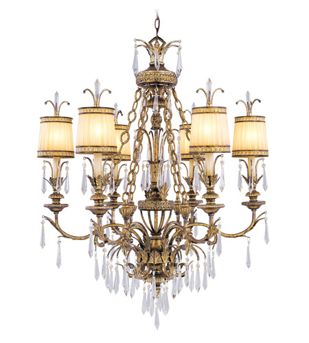Livex Lighting La Bella 6 Light Chandelier in Vintage Gold Leaf 8806-65 photo