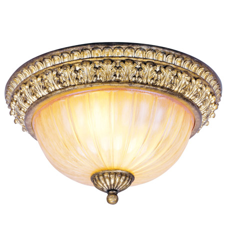 Livex Lighting La Bella 2 Light Ceiling Mount in Vintage Gold Leaf 8818-65 photo