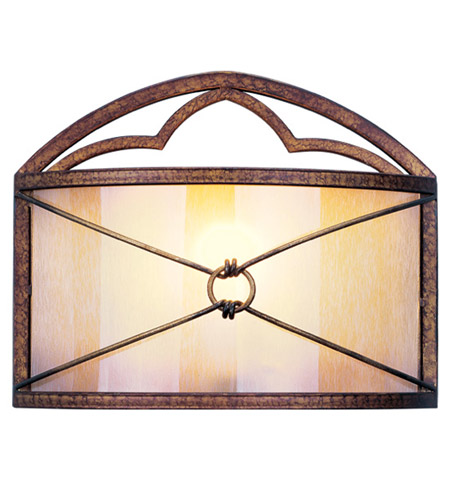 Livex Lighting Bristol Manor 1 Light Wall Sconce in Palacial Bronze with Gilded Accents 8820-64 photo