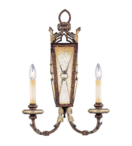 Livex Lighting Bristol Manor 2 Light Wall Sconce in Palacial Bronze with Gilded Accents 8822-64 photo