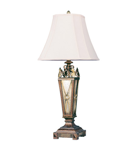 Livex Lighting Bristol Manor 1 Light Table Lamp in Palacial Bronze with Gilded Accents 8830-64 photo