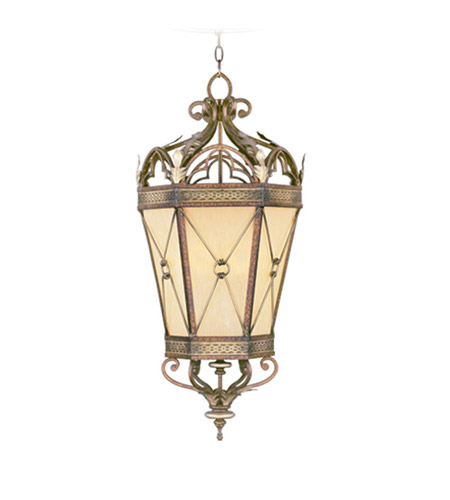 Livex Lighting Bristol Manor 2 Light Foyer Pendant in Palacial Bronze with Gilded Accents 8833-64 photo