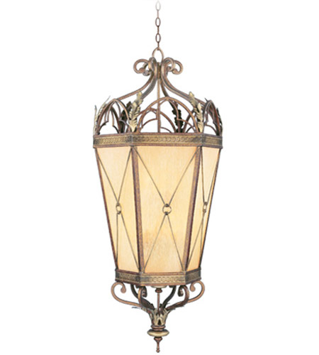 Livex 8837-64 Bristol Manor 6 Light 21 inch Palacial Bronze with Gilded Accents Foyer Pendant Ceiling Light photo