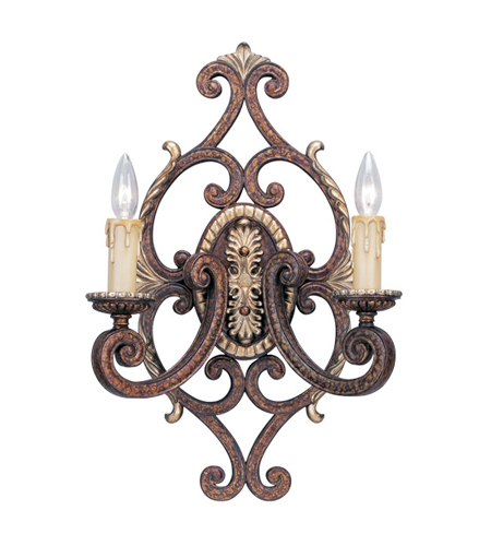 Livex Seville 2 Light Wall Sconce in Palacial Bronze with Gilded Accents 8862-64 photo