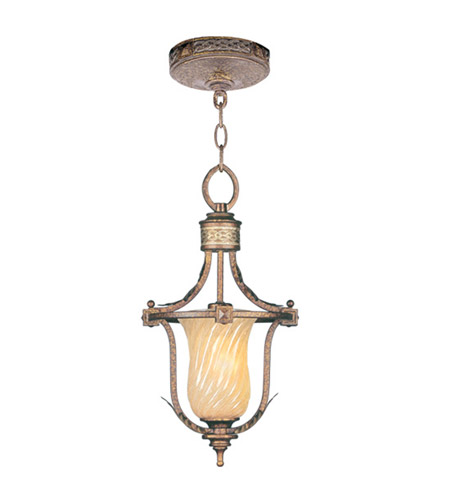 Livex Lighting Bristol Manor 1 Light Pendant/Ceiling Mount in Palacial Bronze with Gilded Accents 8870-64 photo