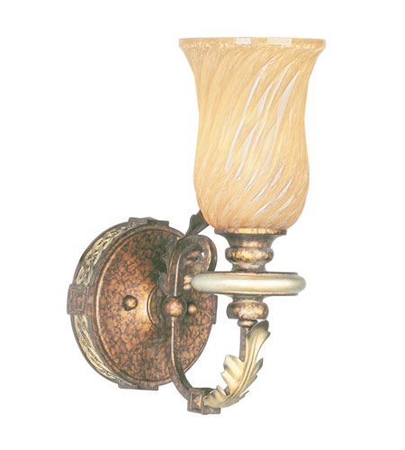 Livex Lighting Bristol Manor 1 Light Bath Light in Palacial Bronze with Gilded Accents 8871-64 photo