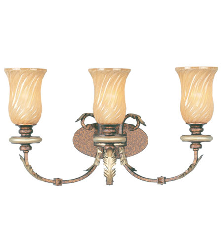Livex Lighting Bristol Manor 3 Light Bath Light in Palacial Bronze with Gilded Accents 8873-64 photo