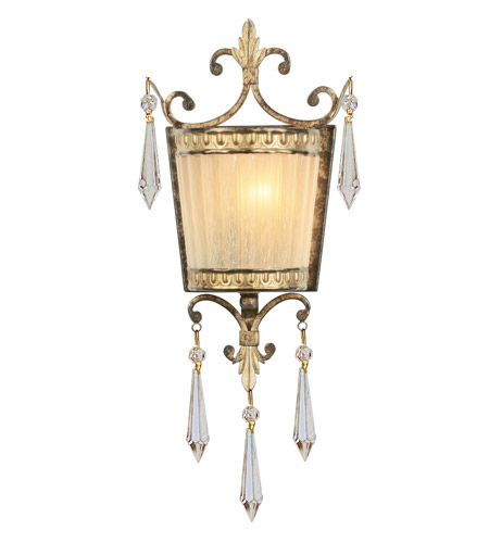 Livex 8880-65 La Bella 1 Light 7 inch Vintage Gold Leaf ADA Wall Sconce Wall Light photo