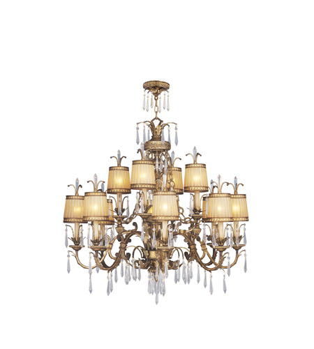 Livex Lighting La Bella 12 Light Chandelier in Vintage Gold Leaf 8888-65 photo