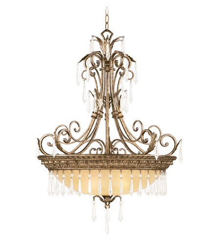Livex Lighting La Bella 4 Light Inverted Pendant in Vintage Gold Leaf 8895-65 photo