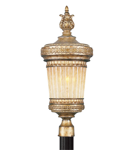 Livex Lighting La Bella 1 Light Outdoor Post Head in Vintage Gold Leaf 8904-65 photo