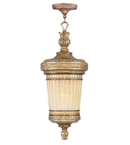 Livex 8908-65 La Bella 1 Light 14 inch Vintage Gold Leaf Outdoor Hanging Lantern photo