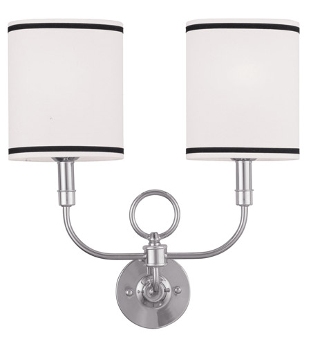 livex signature 2 light 16 inch brushed nickel wall sconce wall light photo