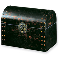 Limited Handpainted Wood Trunk