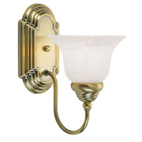 Livex Lighting Belmont 1 Light Bath Light in Antique Brass 1001-01