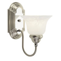 Livex Lighting Belmont 1 Light Bath Light in Brushed Nickel with Chrome Insert 1001-95