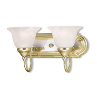 Livex Lighting Belmont 2 Light Bath Light in Polished Brass & Chrome 1002-25