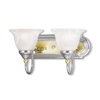 Livex Lighting Belmont 2 Light Bath Light in Chrome & Polished Brass 1002-52