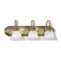 Livex Lighting Belmont 3 Light Bath Light in Antique Brass 1003-01