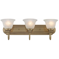 Livex 1003-01 Belmont 3 Light 24 inch Antique Brass Bath Light Wall Light