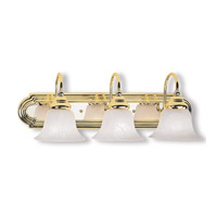 Livex Lighting Belmont 3 Light Bath Light in Polished Brass & Chrome 1003-25 photo thumbnail