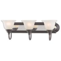 Livex 1003-75 Belmont 3 Light 24 inch Bronze and Chrome Bath Vanity Wall Light