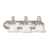 Livex 1003-95 Belmont 3 Light 24 inch Brushed Nickel with Chrome Insert Bath Light Wall Light in Brushed Nickel and Chrome