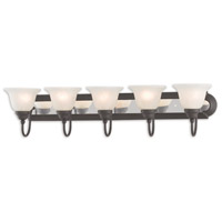 Belmont 5 Light 36 inch Bronze and Chrome Bath Vanity Wall Light