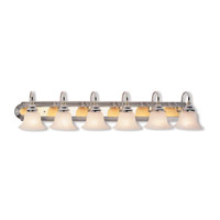 Livex Lighting Belmont 6 Light Bath Light in Chrome & Polished Brass 1006-52
