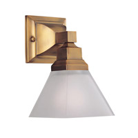 Limited 1 Light 7 inch Brushed Brass Bath Light Wall Light