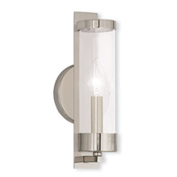 Livex 10141-35 Castleton 1 Light 5 inch Polished Nickel ADA Wall Sconce Wall Light