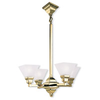 Limited 4 Light 24 inch Polished Brass Chandelier Ceiling Light