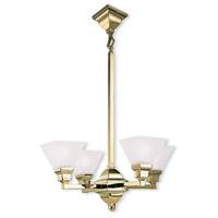 Livex 1017-02 Limited 4 Light 24 inch Polished Brass Chandelier Ceiling Light