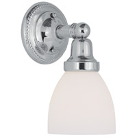 Classic 1 Light 6 inch Polished Chrome Bath Light Wall Light in Satin