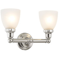 Livex 1022-05 Classic 2 Light 16 inch Polished Chrome Bath Light Wall Light in Satin