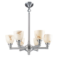Livex Lighting Classic 6 Light Chandelier in Brushed Nickel 1026-91