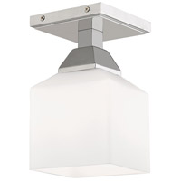 Livex 10280-05 Aragon 1 Light 5 inch Polished Chrome Flush Mount Ceiling Light
